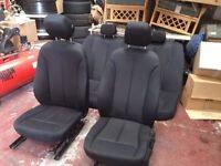 BMW F30 2012-16 BLACK CLOTH INTERIOR SEATS BREAKING 1 3 5 6 7 SERIES