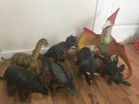 7 Large Toy Dinosaurs