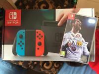 Nintendo Switch Neon with Fifa 18 Brand New Unopened