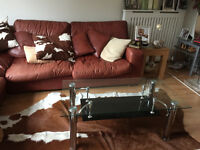 Glass and Chrome Coffee Table £30
