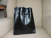 Black Leather French Back Pack/Satchel/Handbag From Freteric