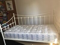 White Metal Single DayBed