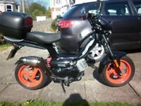 Tomos racing 45,2 stroke moped,623 miles,as new condition,This bike is not chinese