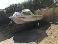 16 foot sea hog boat in good condition and ready to use