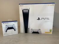 Sony PS5 Disc Edition Console - White - Brand New With a New extra Controller