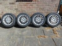 """Alfa Romeo 159 JTDM 17"""" (see description) Alloy Wheels & Tyres from 2006 car"""