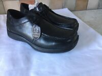 WALABY MENS NEW BLACK LEATHER SHOES