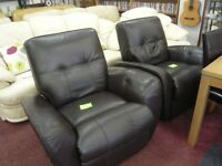Dark Chocolate Brown manual Reclining Chairs (Sold Separately)