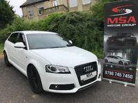 2010 AUDI A3 BLACK EDITION FREE 2YEARS WARRANTY S/S AUTOMATIC 2.0 TDI S LINE WHITE diesel gtd dsg s3