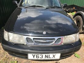 Saab 93 black front bumper - breaking parts