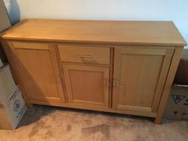 Solid oak sideboard very good condition