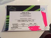 2x Disney on ice 100 years of magic tickets