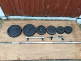 Domyos 90kg Metal Weights Set. Can Deliver