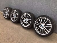 "Genuine BMW 3 4 Series 19"" M Sport Alloy Wheels And Tyres F30 F31 F32 F33 403M"