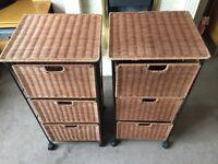 whicker storage drawers