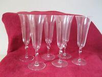 6 flute glasses