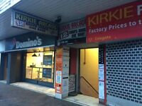 KIRKINTILLOCH - COWGATE - DOUBLE UNIT IN KIRKY ARCADE TO RENT/LEASE