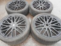 "22"" WOLFRACE GTP ALLOY WHEELS / TYRES - RANGE ROVER / BMW X5"