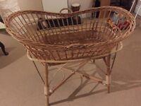 Larger wicker Moses basket vintage/retro