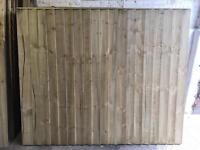 STRAIGHT TOP PRESSURE TREATED HEAVY DUTY WOODEN GARDEN FENCE PANELS 🌳