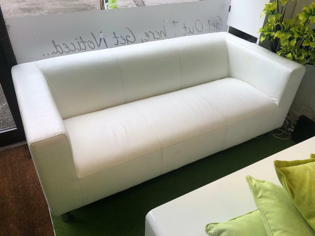 Awesome Argos Home Moda 3 Seater Faux Leather Sofa White Rrp 250 In Bournemouth Dorset Gumtree Download Free Architecture Designs Crovemadebymaigaardcom