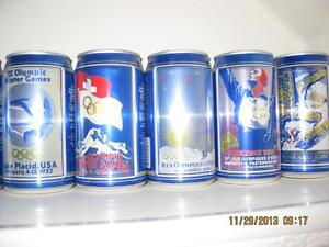 WINTER OLYMPICS 1988 COMPLETE BEER CAN + POSTER COLLECTION Kitchener / Waterloo Kitchener Area image 1