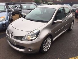 2007/07 RENAULT CLIO 2.0 VVT RENAULT SPORT 3 DOOR, SILVER, LOW MILEAGE,STUNNING LOOKS,DRIVES WELL