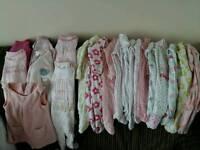 Large bundle newborn girls clothes