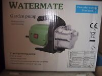 Watermate Garden Pump. Brand new. Still in box with instructions. Never used