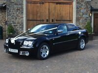 Chrysler 300c auto petrol,2007,Black coachwork wedding car