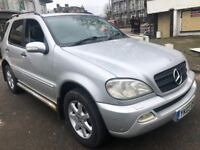 MERCEDES ML270 DIESEL 2003 AUTOMATIC 7 SEATER FULL HISTORY FULL LEATHERS HEATED SEATS SUNROOF