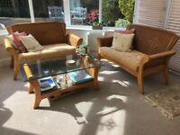 Set Conservatory Wicker Furniture