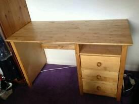Beech wood desk