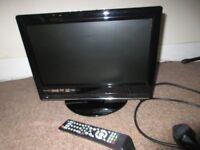 15'' flat screen dvd tv