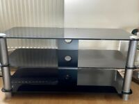 Black Glass Tv stand/table £15