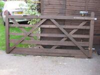 Five Bar Timber Gates