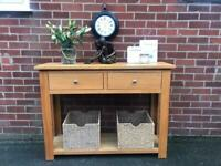 Large Oak Sideboard Console Table Oak Furnitureland RRP £475