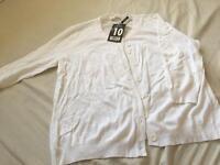 White new cardigan