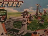 Lego football stadium with figures £20
