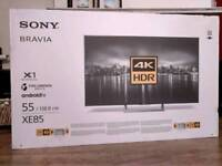 Brand new unboxed Sony KD55XE8596