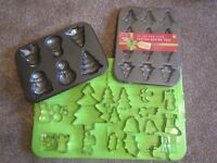 Christmas cake tins and cutters - mostly new