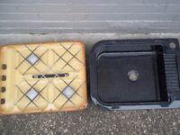 fibreglass lightweight campervan sink and retro style 3 burner hob