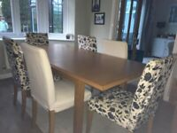M&S extendable Dining Table + 6 chairs