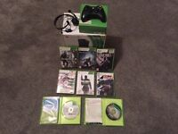 Xbox 360 250gb.ALL DOWNLOADABLE CONTENT - BLACK OPS 2, 2 controllers, 8 games