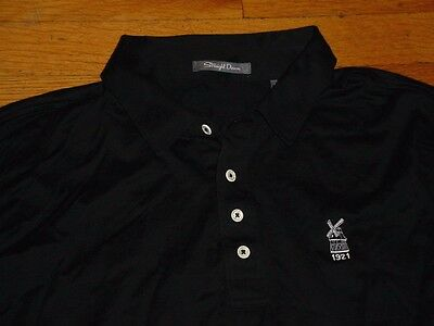 Straight Down University Club Milwaukee Tripoli Country Club Golf Shirt Black XL image