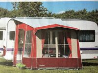 Caravan Porch Awning by Isabella - Burgundy and Stone colour - excellent condition