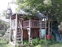 7' x 15' 2 storey timber frame for sale