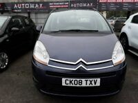 08 plate CITROEN C4 PICASSO IN BLUE 1.6 HDI (DIESEL ) AUTOMATIC 7 SEATER
