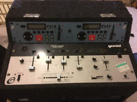 Gemini PMX-1100 Stereo Mixer with CD Player and control console in Flight Case