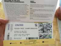Two Tickets for 'Fever Tree' Tennis (Queens) Saturday 23rd June